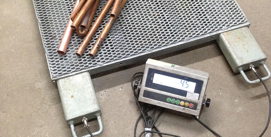 Автомобильные весы для металлолома